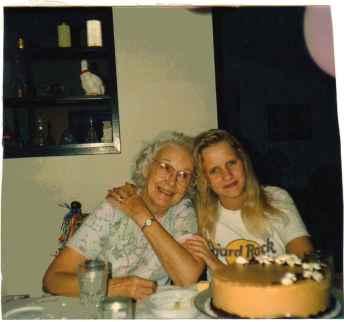 My paternal Grandma Kasper visiting us in Texas in the late '80s.