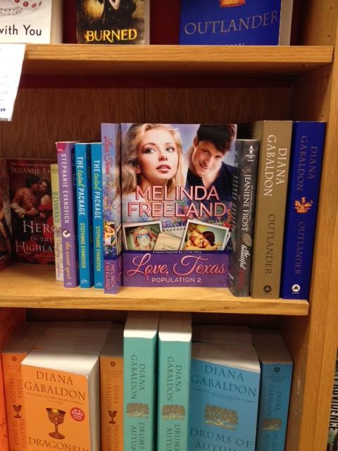 6 Novel on BookPeople shelf