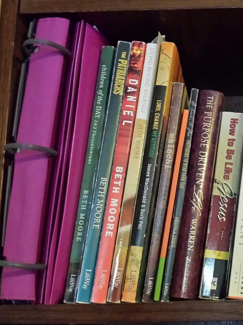 Bible study bookshelf 1