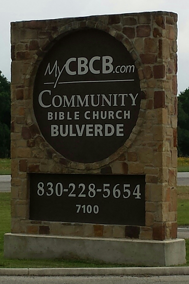 CBCB brick welcome sign april 2017